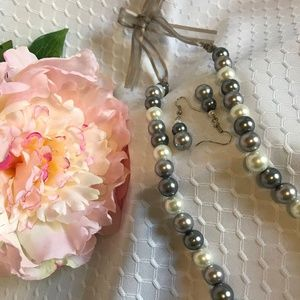 Jewelry - Handmade Bead Necklace and Earring Set